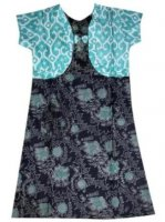 BTK-ANAK-2445 DRESS BATIK KATUN ANAK