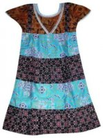 BTK-ANAK-2427 DRESS BATIK KATUN ANAK