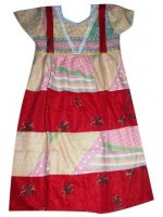BTK-ANAK-2443 DRESS BATIK KATUN ANAK